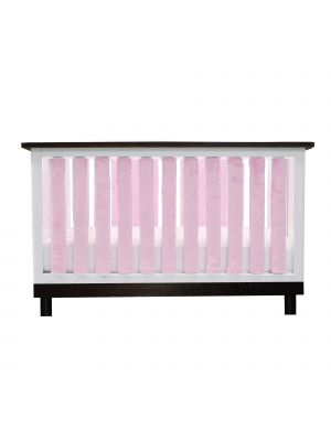 Luxurious Pink Minky Crib Liners