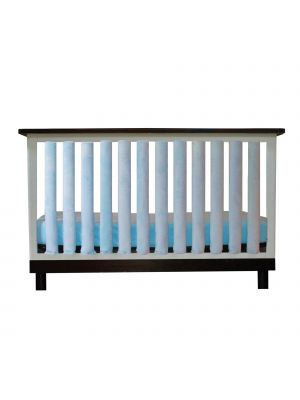 Luxurious Blue Minky Crib Liners