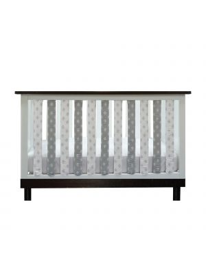 Grey & White Tribal Crib Liners