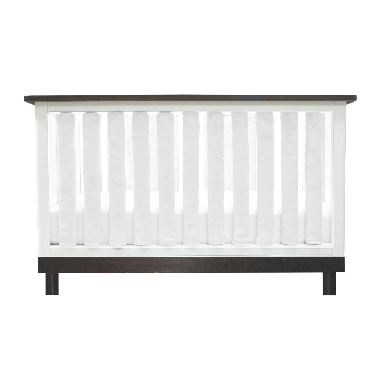 White Minky Vertical Crib Liner